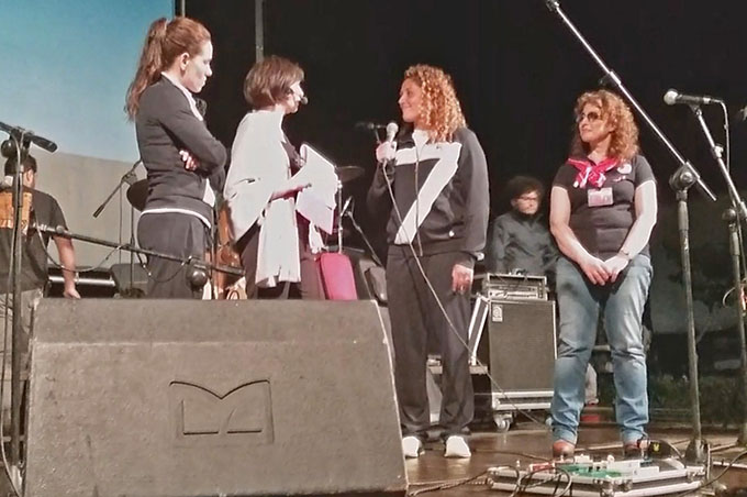 Le campionesse del Setterosa Tania Di Mario e Rosaria Aiello